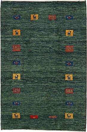Nain Trading 149x101 Persian Gabbeh Kashkuli Rug Modern/Design Dark Grey/Dark Green (Hand-Knotted, Wool, Iran/Persia)