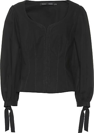 Proenza Schouler Tie-cuff stretch-cotton blouse
