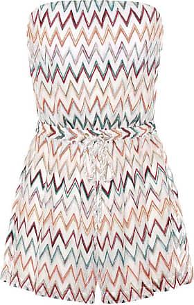 Missoni Strapless chevron-knit playsuit