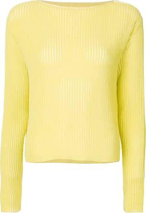 Onefifteen Blusa semi translúcida - Amarelo