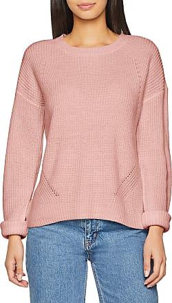 Pieces Womens Pcmarie Ls O-Neck Knit Noos Jumper, Pink (Peachskin), 12 (Size: Medium)