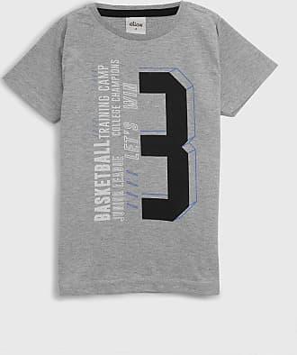 Elian Camiseta Elian Infantil Lettering Cinza