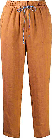 Forte_Forte cropped pull-on trousers - Brown