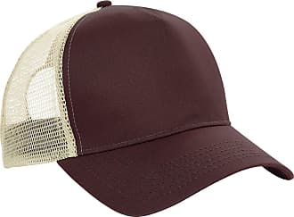 Beechfield Mens Cap with Net Panels - Chocolate/Caramel One Size