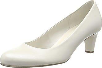 Gabor 43 Absatz Basic Blanc White Femme Off Escarpins EU A7FzawrqA