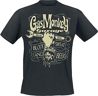 Gas Monkey Garage Garage Wrench Label Men T-Shirt Black 4XL, 100% Cotton, Regular