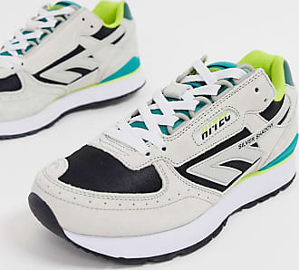 Hi-Tec Silver Shadow trainers in grey and green