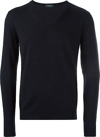 Zanone v-neck jumper - Blue