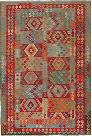 Nain Trading 295x198 Hand Woven Kilim Afghan Brown/Red (Wool, Afghanistan)
