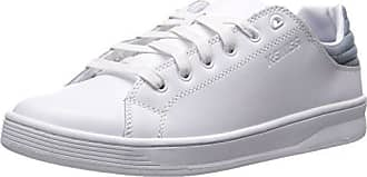 K-Swiss Mens Quick Court CMF Fashion Sneaker, White/Lead, 9.5 M US