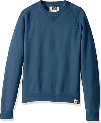 Hanes mensO83451901 V-notch Raglan Sweatshirt Long Sleeve Sweatshirt - blue - Large