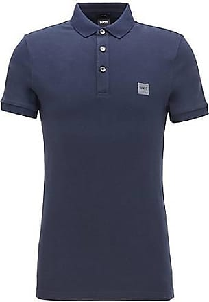 BOSS Slim-fit polo shirt in washed piqué with logo patch