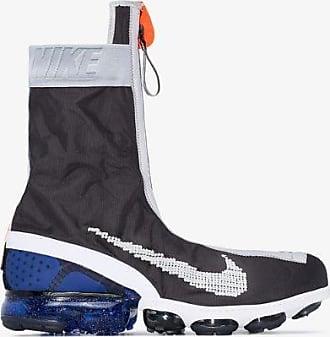 Nike Mens Black Blue Air Vapormax Flyknit Gaiter Ispa Sneakers