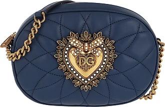 Dolce & Gabbana Devotion Camera Bag Blue Umhängetasche blau