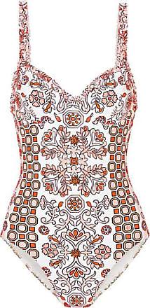 0bade44dbe Tory Burch Hicks Garden Printed Underwired Swimsuit - Orange