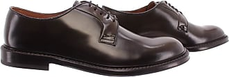 Doucal's Mens Elegant Shoes Horse Military Leather Green Brown