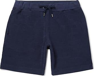 Orlebar Brown Afador Cotton-terry Drawstring Shorts - Navy
