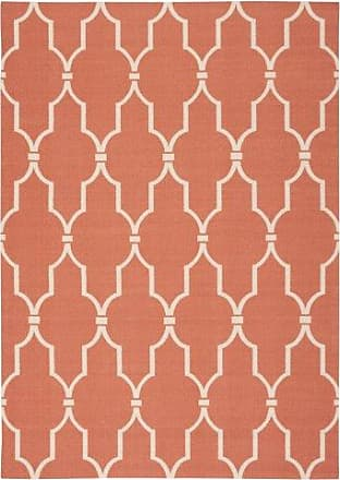 Nourison Home & Garden Orange Rectangle Area Rug, 5-Feet 3-Inches by 7-Feet 5-Inches (53 x 75)