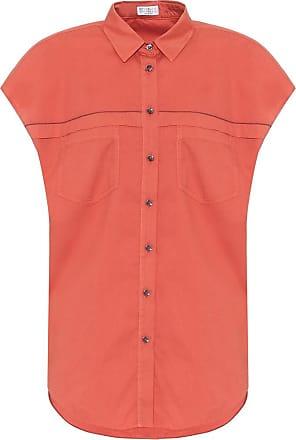Brunello Cucinelli Exklusiv bei Mytheresa - Kurzärmliges Hemd aus Baumwolle