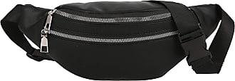 NA Banana Fanny Pack Womens Belt Bag Unisex Double Zipper Bags Leather Crossbody Man Purse Waist Bag Chest Phone Pouch rinoner,pink,-black