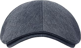Ililily New Mens Cotton Flat Cap Cabbie Hat Gatsby Ivy Caps Irish Hunting Hats Newsboy with Stretch fit (flatcap-004) (One Size, Blue Grey)