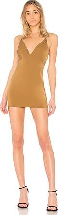 NBD Elvira Slip Dress in Metallic Gold