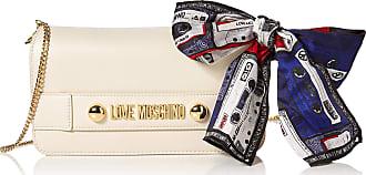 Love Moschino Borsa Small Grain Pu, Womens Clutch, Off-White (Avorio), 14x26x3 cm (W x H L)