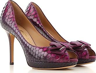 769e5bb458 Salvatore Ferragamo Peep Toe Open Shoes & Heels On Sale in Outlet, barolo  wine,