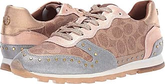 Coach C118 Runner with Signature Coated Canvas and Glitter (Tan/Dirty Gold Mixed Material) Womens Shoes