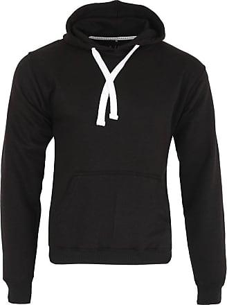 Parsa Fashions Mens Classic Hooded Sweatshirt Jumper Plain Pullover Hoodie Adult Top (3XL, Black)