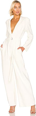 Norma Kamali Single Breasted Straight Leg Jumpsuit in White