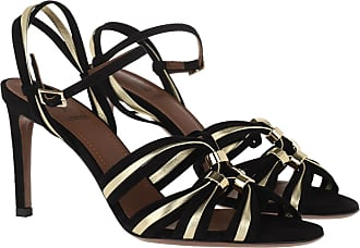 L'autre Chose Sandals - Suede Heel Black/Platinum - black - Sandals for ladies