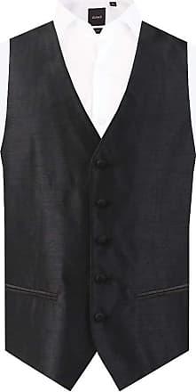 Dobell Mens Black Waistcoat Regular Fit Dupion 5 Button-2XL (50-52in)