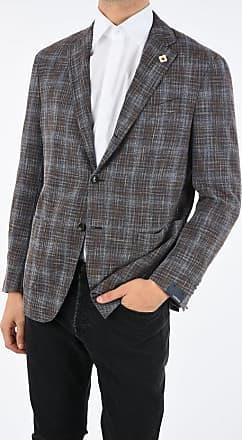 Lardini district check notch lapel 3-button blazer size 54
