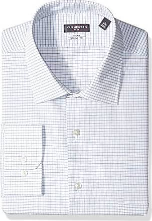 Van Heusen Mens Tall Dress Shirts Big Fit Flex Check, Stone Hedge, 20 Neck 34-35 Sleeve