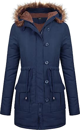 iClosam Winter Women Autumn Casual Daily Coats Women Solid Rain Jacket Outdoor Plus Waterproof Hooded Raincoat Windproof Blue