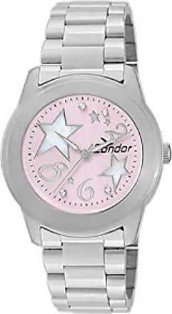 Condor Relógio Feminino Analógico Condor Star CO2036CC/1T Prata e Rosa
