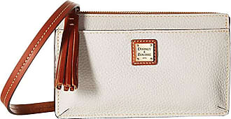 Dooney & Bourke Pebble Gingy Crossbody (Ecru/Tan Trim) Cross Body Handbags
