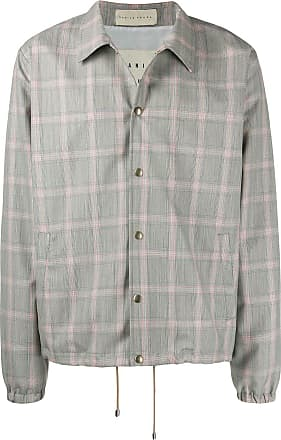 Paura x Kappa plaid shirt jacket - Cinza