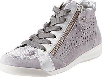 Ara Damen Rom Hohe Sneaker, Grau (Stahl, Grey Silber), 37 edc337aa05