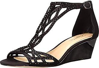 Imagine Vince Camuto Womens Jalen Wedge Sandal, Black, 6 Medium US