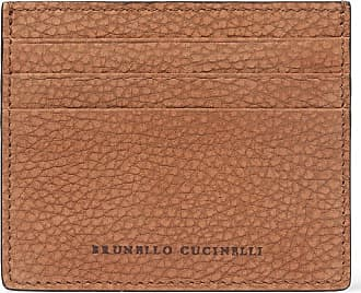 Brunello Cucinelli Full-grain Nubuck Cardholder - Brown