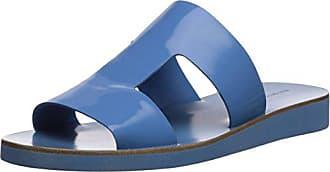 Via Spiga Womens Blanka Flat Sandal, Sky Patent Leather, 7 M US