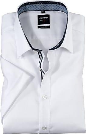 Olymp Level Five Kurzarmhemd, body fit, New York Kent, Weiß, 38