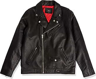 Obey Obey Mens Bastards Polyurethane Jacket Faux-Leather, Black, Large