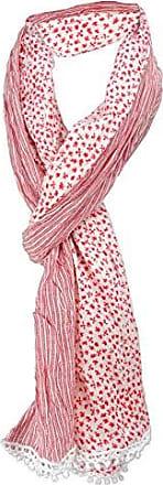 180 x 50 cm gecrashter Schal in rot schwarz mint weiß gemustert Gr