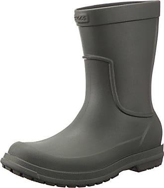 284b0f7d910 Crocs heren allcast Rain Boot Men rubberen laarzen, grijs, maat: 46/47