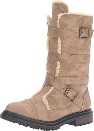 19dc29fc52fee Rocket Dog Womens Lance Simone Shepherd Fabric Motorcycle Boot, Natural,  6.5 M US