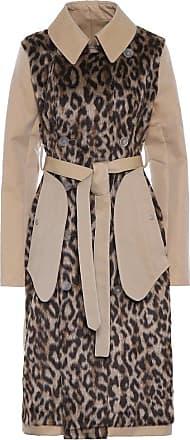 Unravel Faux fur and cotton-gabardine coat