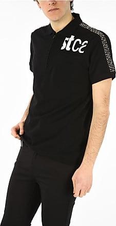 Just Cavalli Half Zip Closure Studded Polo Shirt size 3xl